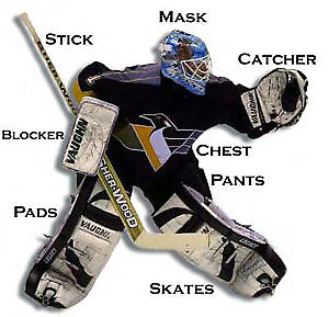 WANTED - ICE HOCKEY GOALIE EQUIPMENT FOR 8 YEARS OLD KID