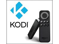 Fire tv stick with kodi and 6 months sky hd subscription installed on it