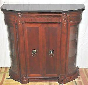 Bombay Company Display Console with Black Marble Top - Like New