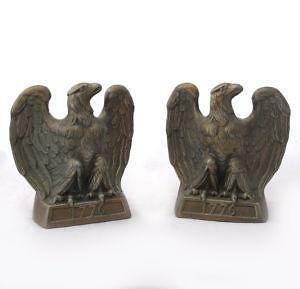 Brass Eagle Bookends