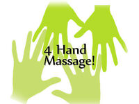 Amazing 4 handed massages, affordable prices