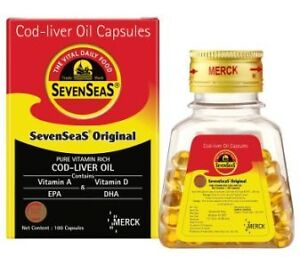 Sevenseas original cod liver oil 200 capsules ebay for Is cod liver oil the same as fish oil