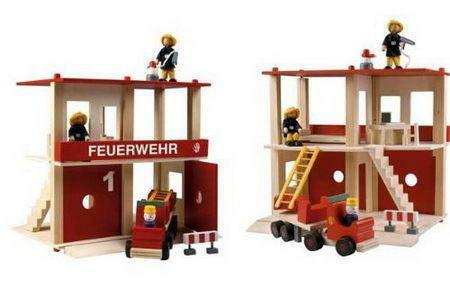 holz feuerwehr ebay. Black Bedroom Furniture Sets. Home Design Ideas