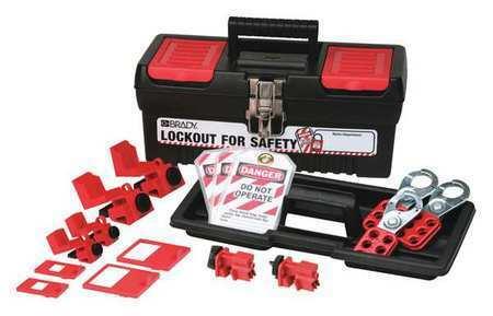 BRADY 105963 Portable Lockout Kit,Blk,Electrical,14