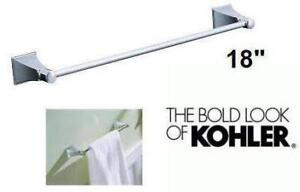 "NEW KOHLERS MEMOIRS 18"" TOWEL BAR IN POLISHED CHROME"