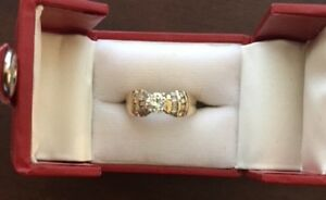 14 karat yellow gold engagement ring for sale