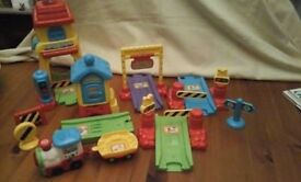 toot toot train and station