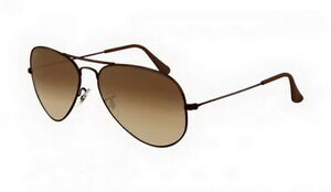 RB3025 Aviator Sunglasses Brown Frame Ray Ban