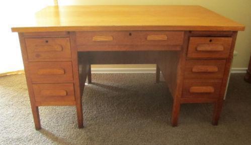 Antique Mission Oak Desk Ebay
