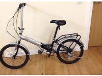 lovely lightweight grey&silver apolla folding bike