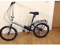 apolla lightweight folding bike black&silver rides lovely 6 speed first.to see will buy