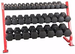 New eSPORT Light Commercial 3 Level DB rack TT3201Order From our web at esportfitness.ca