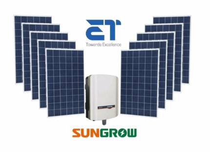5kW Tier 1 Solar Panels + Sungrow Inverter + Huge Savings!!!!