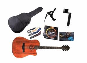 Spanish Look Acoustic Guitar 41 inch Walnut iMG843 Free Soft bag, Capo, Strap, String set, String winder, 5 picks