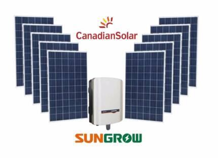 5kW Solar System Canadian Solar & Sungrow Inverter FREE UPGRADE!!