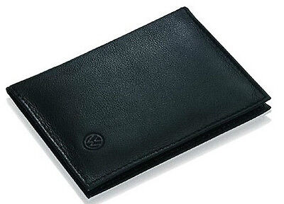 NEW GENUINE VW BLACK LEATHER DRIVERS LICENCE WALLET