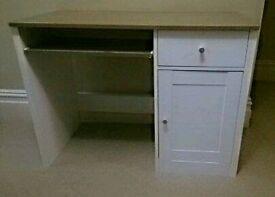 Small white study desk