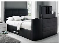 *CASINO TV DOUBLE LEATHER BED FRAME £299* HOLDS UP TO A 42INCH TV*