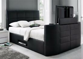 Black Gas lift TV Bed - Brand NEW