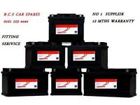 FORD , VAUXHALL CAR BATTERY NEW AND USED AVAILABLE FROM £15 RING FOR MORE INFO