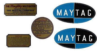 Maytag Gas Engine Decal Set Twin Singles Multi Motor Model 92 72 82 Upright