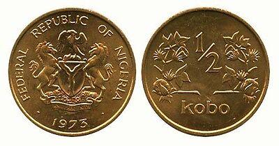 NIGERIA: 4-PIECE VINTAGE COIN SET, 1/2 TO 50 KOBO ()