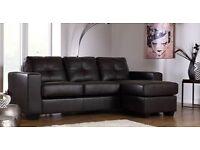 Like New - Leather Corner Sofa - £ 295