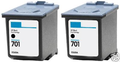 2Pk HP 701 Black Ink Cartridge CC635A HP701 for Fax 640 650 (640 Fax)