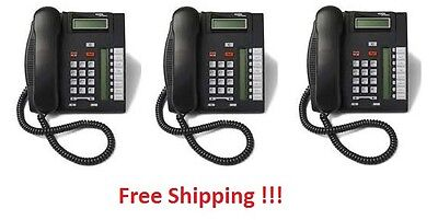 Nortel AKA Avaya Norstar T7208 Charcoal Phones NT8B26AABL QTY: 3