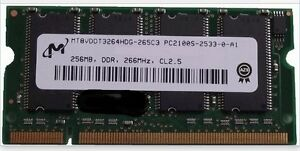 (Two. 256mb) MT8VDDT3264HDG-265C3 PC2100S-2533-0-A1 DDR 200 pin
