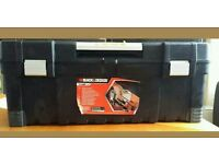 Black and Decker tool box pull bar to open sizes 66cm×26cm×28.7cm