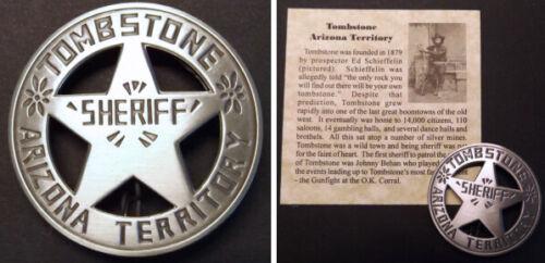 Tombstone Arizona Territory Sheriff Badge, boxed, round, old west western