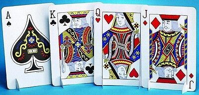 Card Night Table Centerpiece (J,Q,K,A) - Casino / Gamling / Poker Party Supplies
