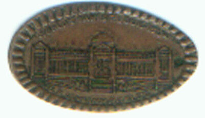 1904 NATIVE AMERICAN CENT ELONGATED with 1904 ST LOUIS WORLD'S FAIR US GOVT BLDG