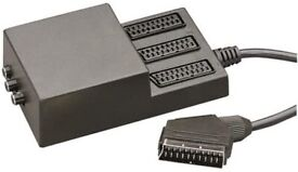 3 way scart splitter with 3 switches