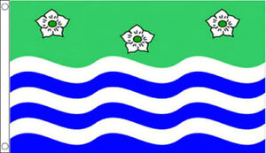 Cumbria Flag 5 x 3 FT - 100% Polyester With Eyelets - Flag - English County