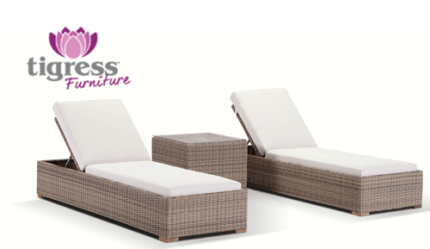 Outdoor Sun Lounge Set with Side Table Wicker Cane Furniture Maroubra Eastern Suburbs Preview