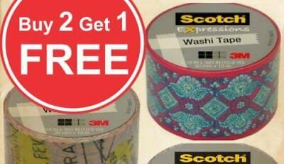 Gratis dazu ( 3 To Cart) 3 M Scotch Expressions Washi Tape (Washi Tape Kaufen)
