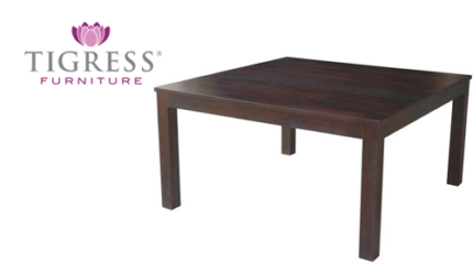Mirage Square 150x150 Chocolate Mango Wood Dining Table SALE NEW