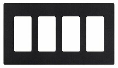 Lutron SC-4-MN Satin Colors 4-Gang Wallplate Midnight