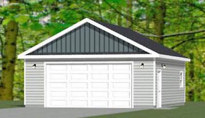 24x28 2-Car Garage -- 672 sqft -- PDF Floor Plan -- Model 1H