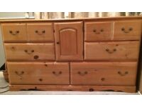 Pine Dresser Sideboard Drawers Waxed