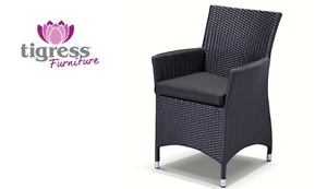 Capri Outdoor Chair in Charcoal wicker with Denim Grey cushion Terrey Hills Warringah Area Preview