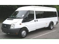 Minibus hire 17 seater with driver for weddings