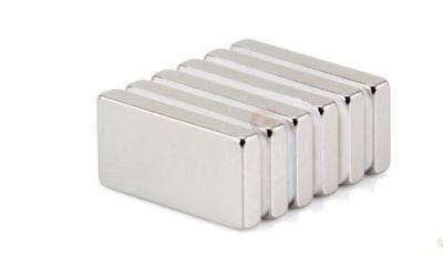 1-100 Pcs Lot N52 Strong Block Bar Fridge Magnets 20x10x2mm Rare Earth Neodymium
