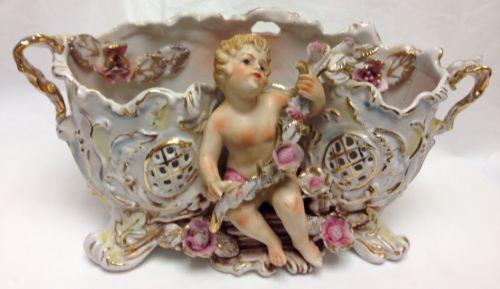Antique Cherub Vase Ebay