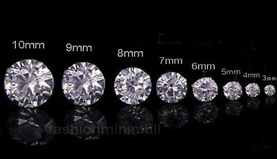 One Day Ship Mens Womens Stainless Steel Studs Earrings With Artificial Diamond
