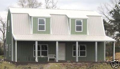 Steel Metal Gambrel Home Building Shell Kit 2 Floor 2720 Sq Ft
