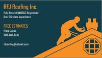 RFJ Roofing Inc  (FREE ESTIMATES) Fully Insured/WHSCC Registered