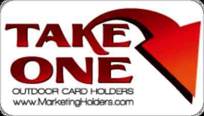 Outdoor Take One Red Sticker For Brochure Card Holder